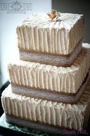 Rustic Wedding Cakes With Burlap Birthday Bridal Shower And Lace