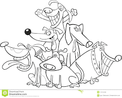 Royalty Free Stock Photo Download Funny Dogs For Coloring Book Pages Pictures Christmas Full Size