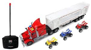 100 Semi Truck Games Amazoncom AJ Toys Remote Control RC Transporter Trailer