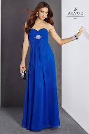 alyce 35745 prom dress strapless beaded back strap empire waist