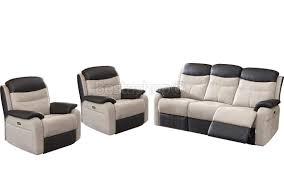 canape cuir relaxation ensemble canapé 3 2 en microfibre avec relax électrique coloris