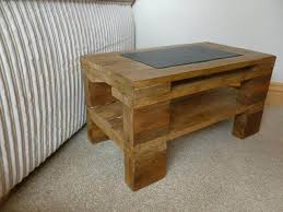 DIY Rustic Side Table With Slate Inlay