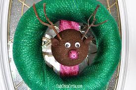 Reindeer Wreath Holiday Easy Craft Idea