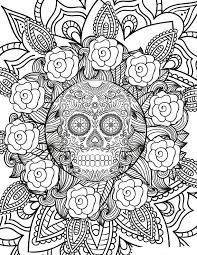 Halloween Sugar Skull Flowers