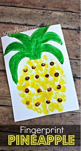 Pineapple Fingerprint Craft For Kids