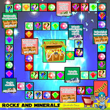 ROCKS AND MINERALS BOARD GAME