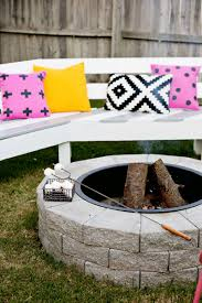 Make Your Own Fire Pit In 4 Easy Steps! – A Beautiful Mess Fire Pits Is It Safe For My Yard Savon Pavers Best 25 Adirondack Chairs Ideas On Pinterest Chair Designing A Patio Around Pit Diy Gas Fire Pit In Front Of Waterfall Both Passing Through Porchswing 12 Steps With Pictures 66 And Outdoor Fireplace Ideas Network Blog Made How To Make Backyard Hgtv Natural Gas Party Bonfire Narrow Pool Hot Tub Firepit Great Small Spaces In