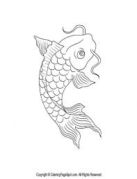 Awesome Koi Fish Coloring Page 57 With Additional Books