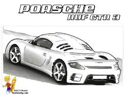 Print Out Harder Coloring Page Porsche RUF Rear View At YesColoring