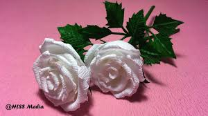 How To Make Rose Flower By Crepe Paper Origami Tutorials Craft