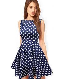 online get cheap blue polka dot dress aliexpress com alibaba group