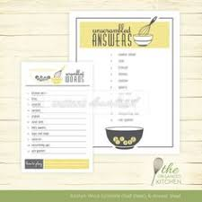 Bridal Shower Word Scramble Kitchen Theme Wisk And Bowl Halfsheet In Yellow