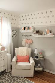 Bratt Decor Joy Crib by Peach And Gray Nursery Reveal Nursery Peach And Gray