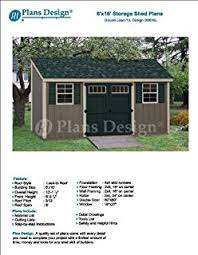 6 x 12 deluxe back yard storage shed project plans lean to