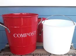 küchen kompost eimer rot m punkten