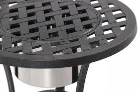 lattice patterned aluminum patio basket in black mathis