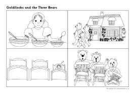Goldilocks And The Three Bears Colouring Pages 18 Teaching Resources Story Sack