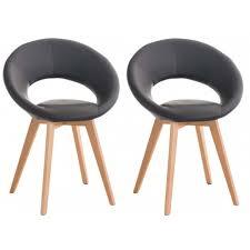 chaise simili cuir gris lot de 2 chaises moderne en simili cuir gris pieds en bois