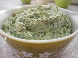 Spinach Artichoke Cottage Cheese Dip w Crispy Pancetta