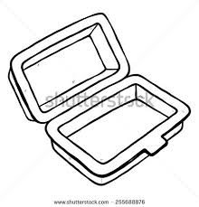 Foam Meal Box Cartoon Vector Illustration Stock Vector Royalty Free