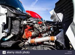100 Semi Truck Engine Indianapolis Circa February 2017 Compartment Of A