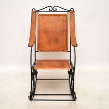 Wrought Iron & Leather Rocking Chair - LA110513 | LoveAntiques.com Peruvian Folding Chair La90251 Loveantiquescom Steelcase Office Parts Probably Outrageous Great Leather Mid Century Teak Rocking Chairish Vintage And Wood For Sale At 1stdibs Embossed Armchairs Amazoncom Real Handmade Butterfly Olive Rustic La Lune Collection Ole Wanscher Rocking Chair Leisure Ways Outdoor Arm Buy Alexzhyy Mulfunctional Music Vibration Baby