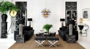 schwarzer würfelförmiger beistelltisch in marmor optik eichholtz