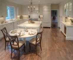 View In Gallery Small Kitchen Island With A Long Wooden Table On The Side