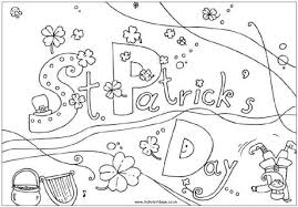 St Patricks Day Free Printable Coloring Cards