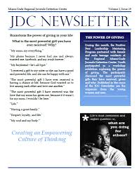 JDC Newsletters Volume 2 Issue 19 The Power Of Giving