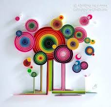 Paper Quilling Design Art Wall Forest Handmade Decor Gift Artwork