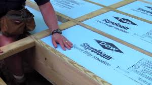 Distance Between Floor Joists On A Deck by How To Foam Insulation Board Youtube