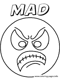 Emotion Angryblank Coloring Pages