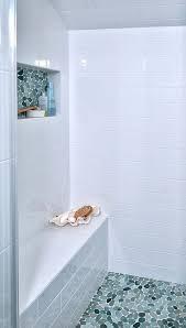image result for blue pebble tile on shower floor bathroom