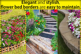 Colorful Flower Bed Border Attractive Flower Bed Edging Ideas