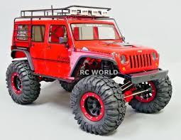 100 Axial Rc Trucks JEEP WRANGLER 22 Beadlock CRAWLER Wheels TIres 130mm RED