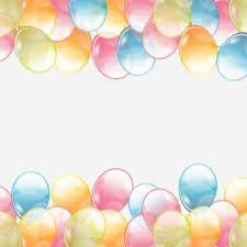 Birthday background with colored transparent balloons vector 03