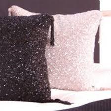 District17 Pink Sparkle Beaded Throw Pillow Pillows