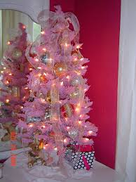 Pink Christmas Tree Flocking Spray by White Christmas Trees Decorated Blue Ngorong Club Flowering