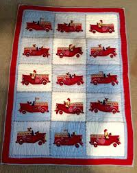 Pottery Barn Kids Fire Trucks Nursery Bedding Crib Quilt ...