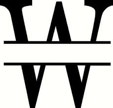 Monogram W Vinyl Decal Custom Creations Vinyl Decals