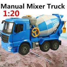 100 Cement Mixer Toy Truck 120 Scale Engineering Model ABS Plastic