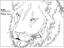 Click To See Printable Version Of Male Lion Head Coloring Page