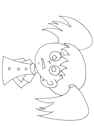 Emotions Girl Scared People Coloring Pages