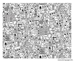 City Adult New York Chrysler Architecture Big Coloring Pages