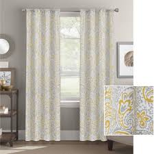 Walmart Better Homes And Gardens Sheer Curtains by Better Homes And Gardens Scalloped Paisley Curtain Panel Walmart Com