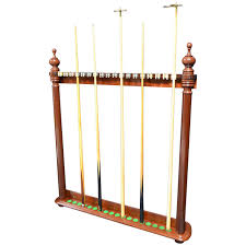 Wall Mounted Antique Billiard Snooker or Pool Cue Rack at 1stdibs