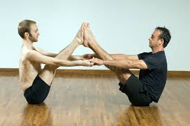 Download Two Men In A Yoga Pose