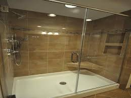 how to install tile shower walls with a prefab base image