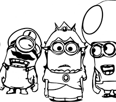Minion Coloring Pages Best For Kids To Print